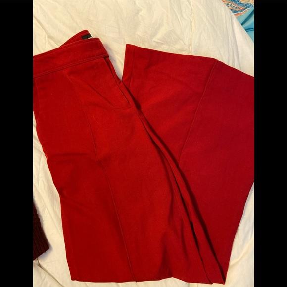 Moda International Pants - Dark red bell bottom dress pants